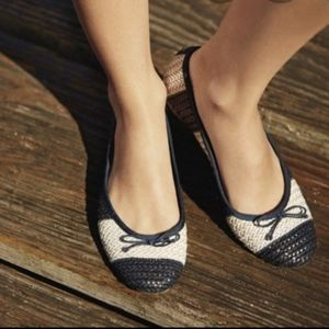 Sperry Top Sider Nahla Basket Weave Flats Size 7.5